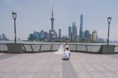 婚礼photoshot,上海,中国 免版税库存图片