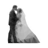婚姻。亲吻新娘和新郎。 免版税库存照片
