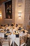 结婚宴会培训地点在晚上 免版税图库摄影