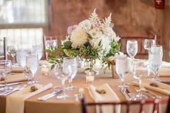 结婚宴会桌 免版税库存照片