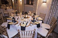 结婚宴会桌 免版税库存图片