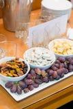 结婚宴会自助餐食物 免版税库存图片