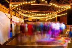 结婚宴会舞池 免版税库存照片
