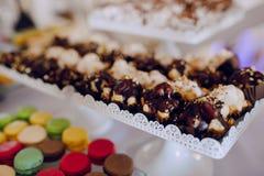 结婚宴会装饰食物 库存图片