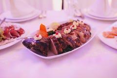 结婚宴会食物 免版税库存照片
