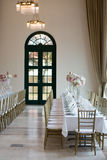 结婚宴会宴会设置 免版税库存图片