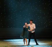 婚姻分歧现代舞蹈 库存图片