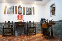 婚姻卧室风景在农村中国 库存照片