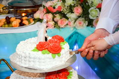 婚宴喜饼手圆环 库存图片