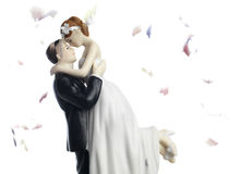 婚宴喜饼轻便短大衣 免版税库存照片