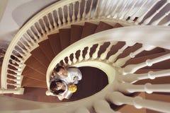 婚姻在一个美丽的豪宅 免版税库存图片