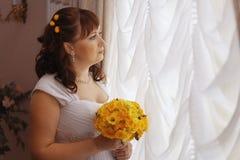 婚姻在一个美丽的豪宅 免版税库存照片
