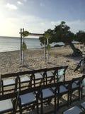 婚姻在海滩 免版税图库摄影