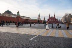 婚姻在红场的莫斯科 库存照片