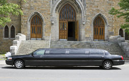婚姻大型高级轿车 免版税库存照片