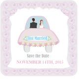 结婚-婚礼汽车 库存图片