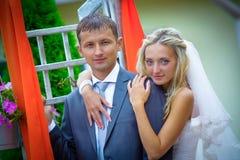 婚姻 愉快的新娘 库存照片