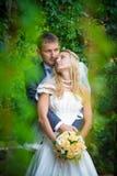 婚姻 愉快的新娘 免版税库存照片