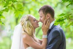 婚姻 愉快的新娘 免版税图库摄影
