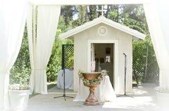 婚姻或娱乐事件的帐篷 免版税库存照片