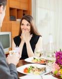 婚姻提议  免版税库存图片