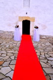 婚姻-教会入口 免版税库存照片