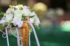婚姻的人造花花束 图库摄影