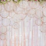 婚姻的场面的美好的花背景 库存图片