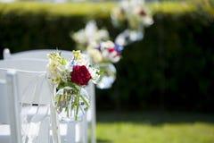 婚姻的垂悬的花束 库存照片
