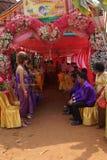 婚姻的大门罩帐篷 库存图片