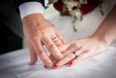 婚姻的戒指 图库摄影