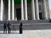 婚姻的摄影师 免版税库存图片