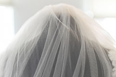 婚姻的新娘面纱 免版税图库摄影