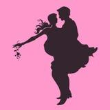 婚姻的爱恋的夫妇 库存例证