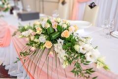 婚姻的花卉装饰 库存图片