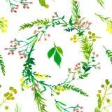 婚姻的花卉水彩样式 图库摄影