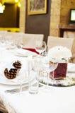 婚姻的豪华餐位餐具 免版税库存图片