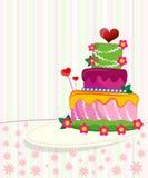 婚姻的邀请或announceme的婚宴喜饼 库存图片