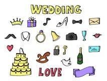 婚姻的集合例证 免版税图库摄影