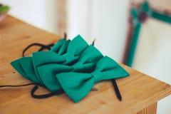 婚姻的领带蝴蝶 库存照片