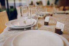 婚姻的宴会餐馆 免版税库存图片