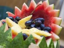 婚姻的宴会-果子细节 免版税库存照片