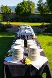 婚姻的宴会宴餐设定 库存照片