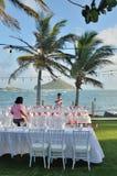 婚姻的宴餐的Preperations在加勒比 免版税库存图片