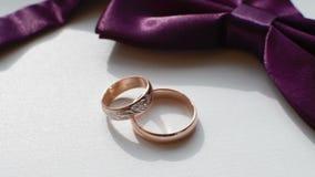 婚姻细节,圆环,修饰弓领带 股票视频