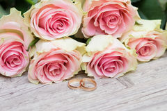 婚姻花的环形 图库摄影