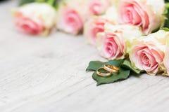 婚姻花的环形 库存图片