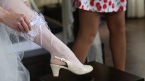 婚姻袜带的礼服 影视素材