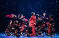 婚姻风俗中国民间舞的Minnan 库存照片