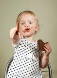 贪婪的小女孩 免版税库存图片
